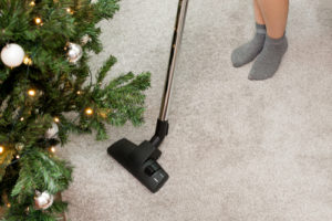 Carpet Cleaning During Winter with a Christmas Tree