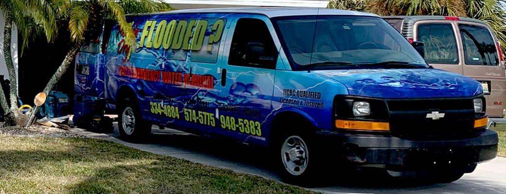 Florida Dry Home Restoration Van